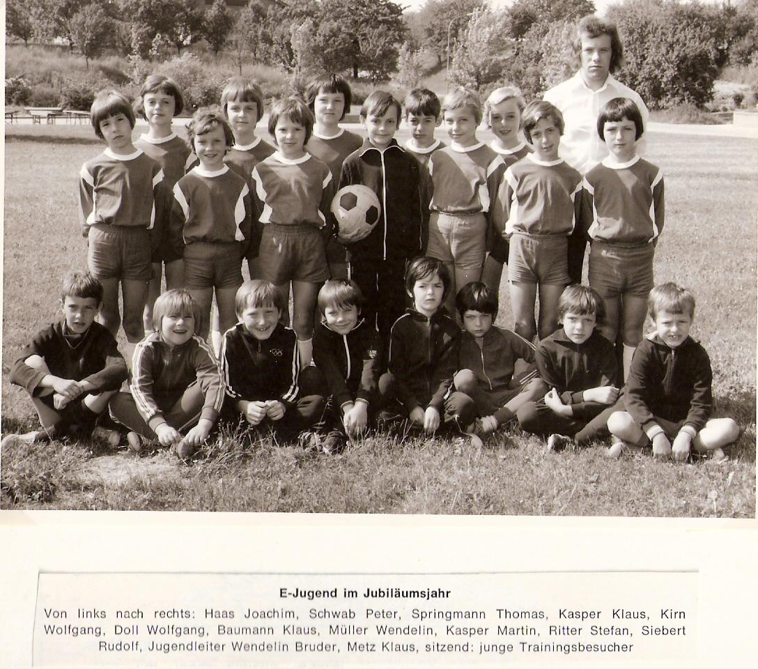 1973 E-Jugend des SV Nußbach